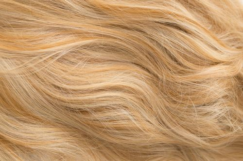 154 - Light blonde with red blonde highlights